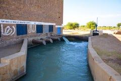 Casa de bomba de agua - esquema de la irrigación Foto de archivo libre de regalías