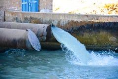 Casa de bomba de agua - esquema de la irrigación Fotos de archivo libres de regalías