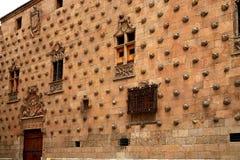 Casa de cáscara de Casa de las Conchas Salamanca Imagen de archivo