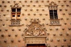 Casa de cáscara de Casa de las Conchas Salamanca Fotos de archivo libres de regalías