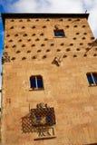Casa de cáscara de Casa de las Conchas Salamanca Foto de archivo libre de regalías