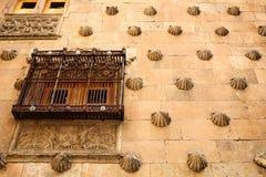 Casa de cáscara de Casa de las Conchas Salamanca Fotos de archivo