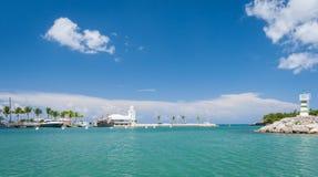 Casa de Campo小游艇船坞 免版税图库摄影