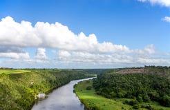 Casa de Campo河在多米尼加共和国 库存图片