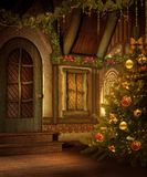 Casa de campo 2 do Natal Foto de Stock Royalty Free