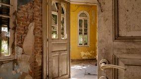 Casa de campo abandonada - Grécia imagem de stock