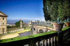 Casa de campo Aldobrandini em Frascati Teatro das águas Roma, Lazio, Itália imagens de stock royalty free