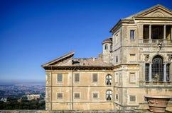 Casa de campo Aldobrandini em Frascati Teatro das águas Roma, Lazio, Itália imagens de stock