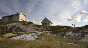 Casa de campo alpestre Fotos de archivo