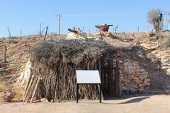 Casa de campo antiga na vila Andamooka da mineração, Sul da Austrália foto de stock royalty free