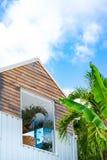 Casa de campo com Seaview imagem de stock