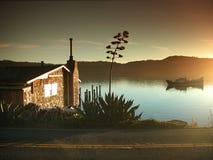 Casa de campo da borda da estrada do louro de Tomales Imagem de Stock