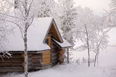 Casa de campo da floresta foto de stock
