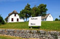 Casa de campo da fotografia, natureza rural ireland foto de stock