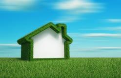 Casa de campo da grama verde ilustração stock