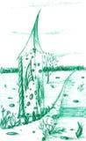 Casa de campo da mágica do Fairy-tale ilustração royalty free