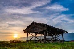 Casa de campo de bambu Imagem de Stock
