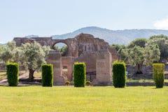 A casa de campo de Hadrian, a casa de campo do Roman Emperor ', Tivoli, fora de Roma, Itália, Europa Foto de Stock