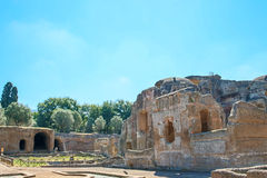 A casa de campo de Hadrian, a casa de campo do Roman Emperor ', Tivoli, fora de Roma, Itália, Europa Fotografia de Stock Royalty Free