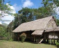 Casa de campo de la selva del Amazonas Fotos de archivo