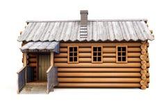 Casa de campo de madeira ilustração royalty free