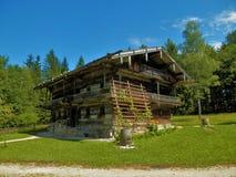 Casa de campo de madeira do museu do ar livre de Salzburger Imagens de Stock