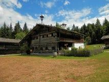 Casa de campo de madeira do museu do ar livre de Salzburger Foto de Stock Royalty Free