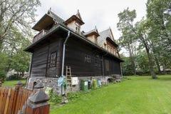 Casa de campo de madeira nomeada Ornak em Zakopane Imagens de Stock