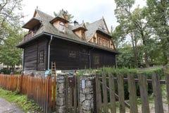 Casa de campo de madeira nomeada Ornak em Zakopane Fotografia de Stock