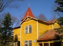 Casa de campo de madeira velha foto de stock