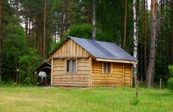 Casa de campo de madera Foto de archivo