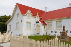 Casa de campo de pedra branca Imagens de Stock