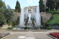 Casa de campo de Tivoli do ` cardinal Este de Ippolito d, Itália Imagens de Stock Royalty Free