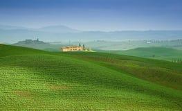 Casa de campo de Tuscan Foto de Stock