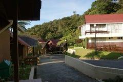 Casa de campo del Nepenthes en el Monte Kinabalu, parque de Kinabalu, Malasia, Borneo Fotografía de archivo