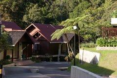 Casa de campo del Nepenthes en el Monte Kinabalu, parque de Kinabalu, Malasia, Borneo Fotos de archivo