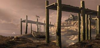 Casa de campo do beira-mar Foto de Stock