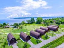 Casa de campo do beira-mar de Samwa fotos de stock