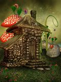 Casa de campo do fairy do verão ilustração stock