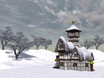 Casa de campo do Fairy-tale ilustração stock