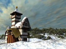 Casa de campo do Fairy-tale ilustração do vetor
