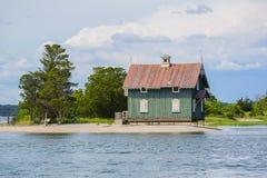 Casa de campo do galo de briga nos pantanais ocidentais do prado, NY fotos de stock royalty free