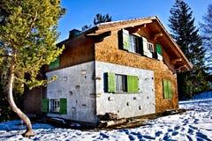 Casa de campo do inverno Fotografia de Stock