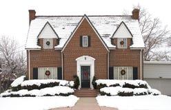 Casa de campo do Natal - dia Fotografia de Stock Royalty Free
