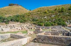 Casa de campo do ` s de Tiberio, ruínas romanas perto de Sperlonga, província de Latina, Lazio, Itália central fotos de stock royalty free