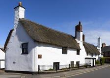 Casa de campo do telhado da palha em Porlock, Somerset Imagem de Stock Royalty Free