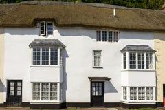 Casa de campo do telhado da palha no Minehead, Somerset Fotos de Stock Royalty Free