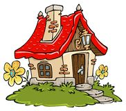 Casa de campo dos desenhos animados ilustração royalty free