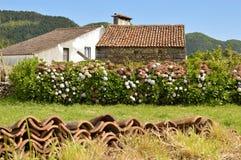 Casa de campo en el sao Miguel imágenes de archivo libres de regalías
