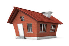 Casa de campo engraçada do tijolo imagem de stock royalty free